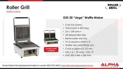 Roller Grill Ges 20 Waffle Machine roller grill waffle makers