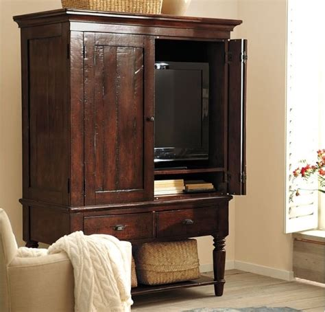 media armoires cabinets mason media armoire rustic mahogany finish traditional