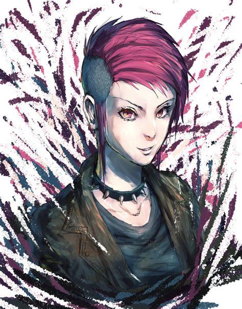 Pink Hair Punk Lady by MAR5HMA110W on DeviantArt