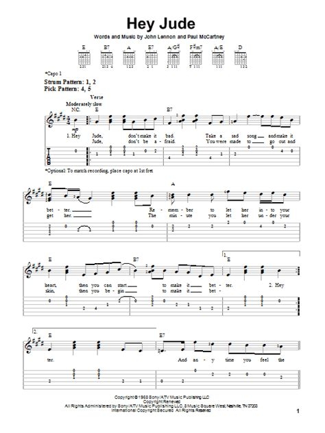 ukulele tutorial hey jude hey jude sheet music direct