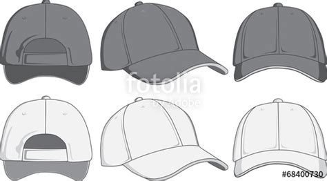 Quot Baseball Cap Front Back And Side View Vector Illustration Quot Stock Image And Royalty Free Hat Template Illustrator