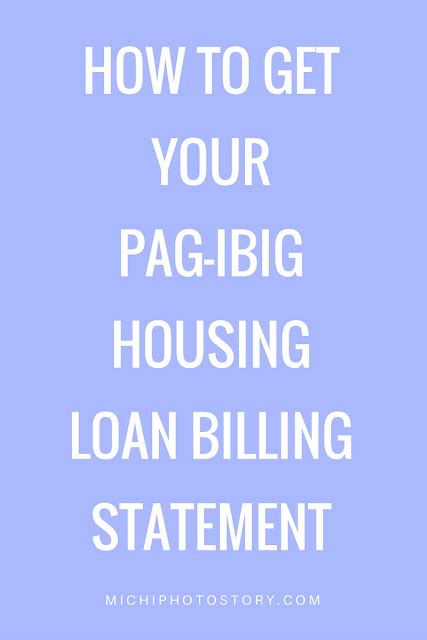 michi photostory how to get your pag ibig housing loan