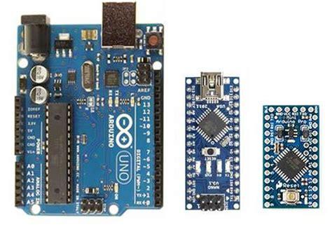 confronto arduino uno arduino pro mini arduino nano