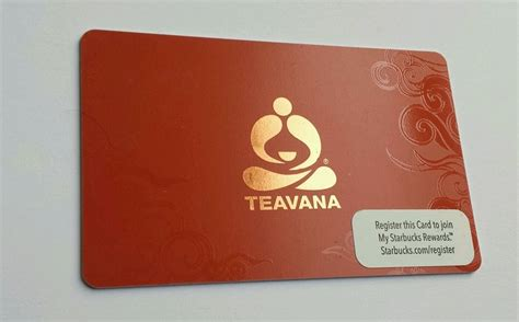 Teavana Gift Card - starbucks exclusive teavana gift card new never swiped ebay