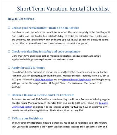 Vacation Checklist Template 7 Free Word Pdf Documents Download Free Premium Templates Vacation Rental Checklist Template