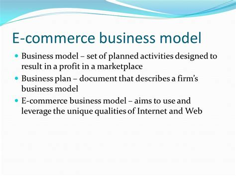 e commerce business overview e commerce business model ppt video online download