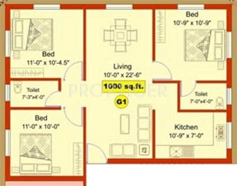 2 bhk plan in 1000 sq ft 1000 sq ft 3 bhk 2t apartment for sale in aliyah
