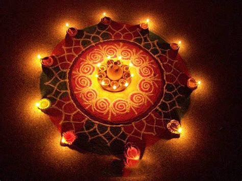 Diwali Home Decoration Lights Diwali Rangoli Designs With Dots Amp Flowers Deewali Rangoli
