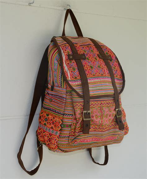 Backpack Handmade - special price orange backpack book bag handmade by