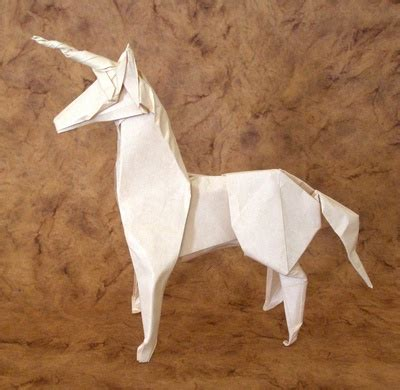 How To Make A Paper Unicorn - white origami unicorn 2016