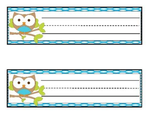 printable owl desk tags 12 owl desk name tags by samantha halbert teachers pay