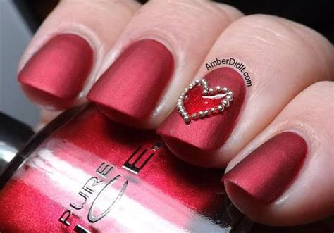 Nail designs for valentines   yve style.com