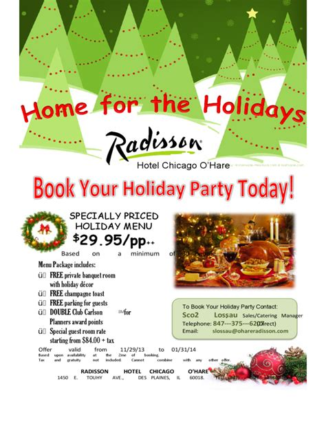 Hotel Resume Sample by Sample Holiday Event Flyer Free Download