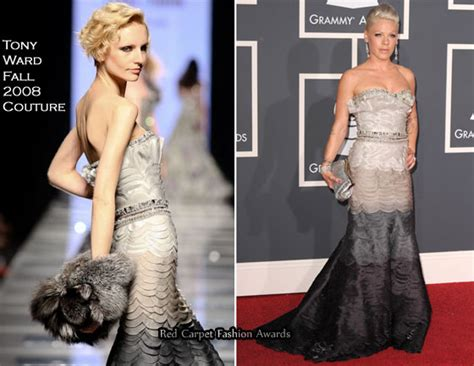 Catwalk To Carpet Grammy Awards by Runway To 2010 Grammy Awards Pink In Tony Ward Couture