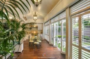 Turn Balcony Into Sunroom Outdoor Plantation Shutters
