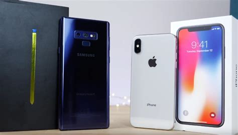 samsung 9 vs iphone x samsung galaxy note 9 vs iphone x geeky gadgets howldb