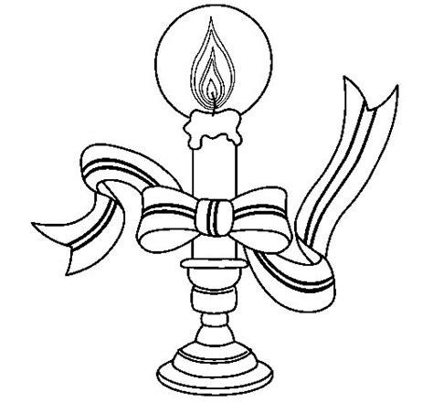 disegni candele di natale disegno di candela di natale ii da colorare acolore