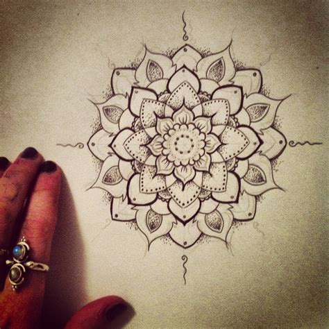 dot design tattoo mandala design on mandala lotus