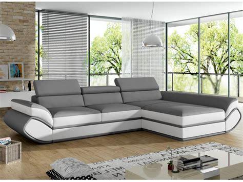 sofa mit ecke sofa mit ecke rechts verstellbar kunstleder grau wei 223