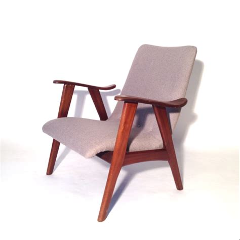 fauteuil retro midcentury easychair new upholstery sold tante eef