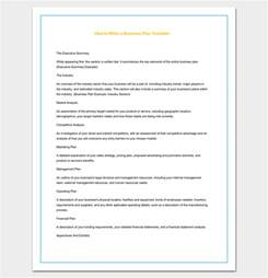 How To Write Business Plan Template by Business Outline Template 20 Free Sles Formats