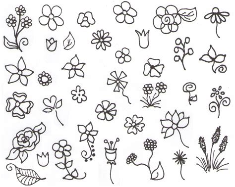 simple doodle drawings flower doodles school ideas flower