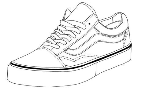 coloring pages of vans shoes vans old skool footwear templates pinterest vans