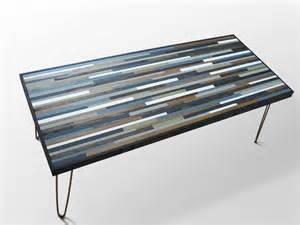 modern wood coffee table with hairpin legs modern