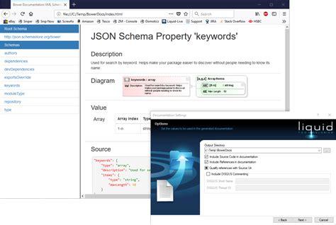 Json Documentation Generator json schema documentation generator