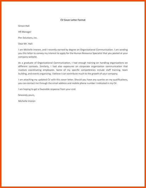 Free Resume And Cover Letter 3 4 Simple Cover Letter Exles For Resume Formatmemo
