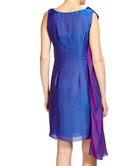 Ab Studio Twotone Dress max two tone iridescent silk dress designer dresses sale outlet secretsales