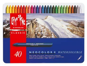 Crayon Carandache 40 Neocolor 1 neocolor ii x 40