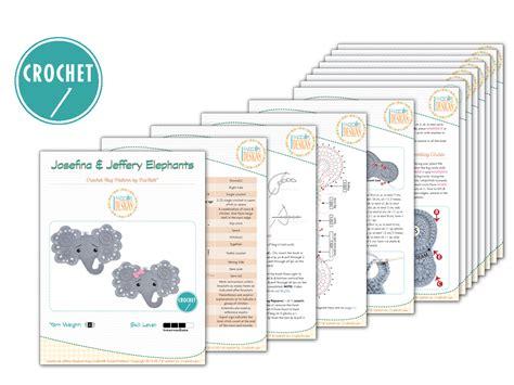 josefina and jeffery elephant rug pdf crochet pattern