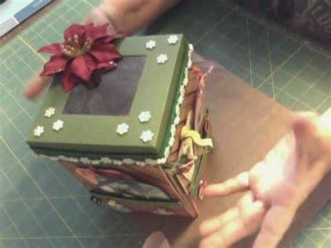 explosion box tutorial christmas explosion box christmas version youtube