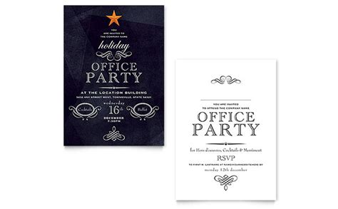 Office Holiday Party Invitation Template Word Publisher Microsoft Publisher Invitation Templates