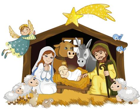 printable christmas belen portal de bel 233 n con animalitos christmas nativity baby
