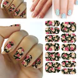 3d flower nail art stickers decals for diy uv gel polish