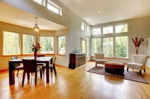 light dining room and sitting area interior design