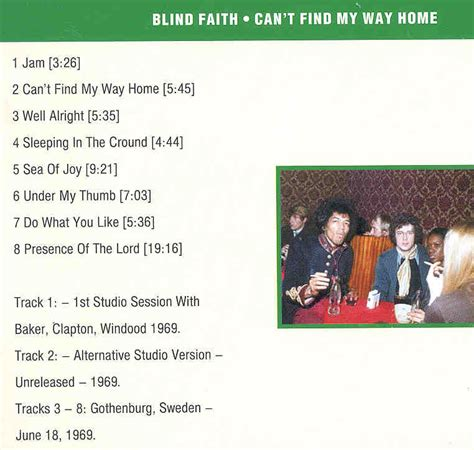 blind faith can t find my way home and watches on can t