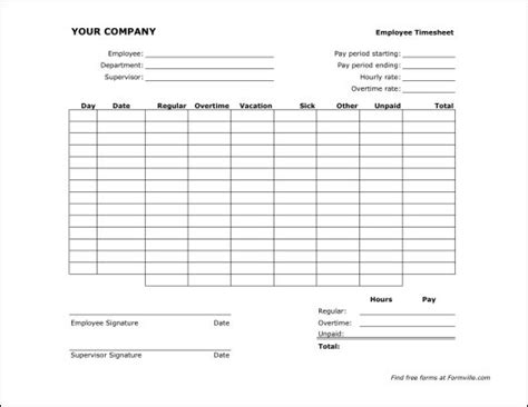 biweekly paid lunch printable time sheet free bi weekly timesheet landscape from formville