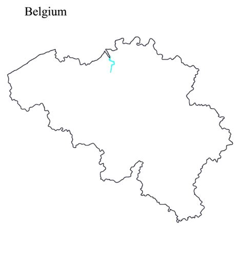 blank map of belgium outline maps