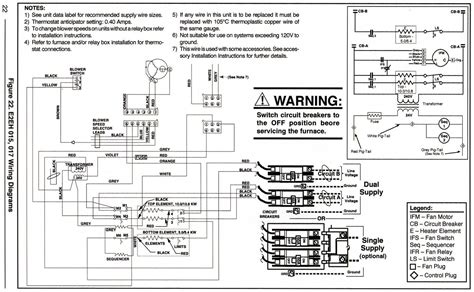 mobile home electric furnace thermostat wiring diagram