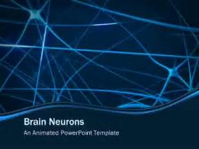 free brain powerpoint templates brain neurons a powerpoint template from presentermedia