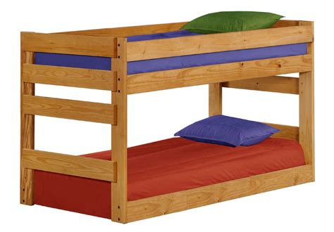Bunk Bed With Open Bottom Pine Crafter American Made Quality Furniture Bunk Beds