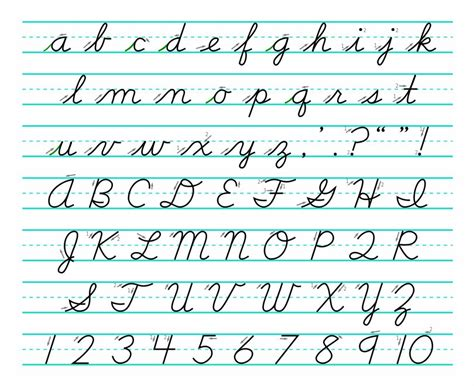 learning cursive handwriting writing