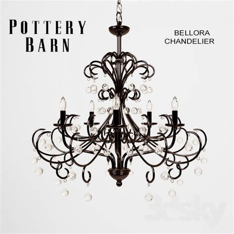 Bellora Chandelier 3d Models Ceiling Light Pottery Barn Bellora Chandelier