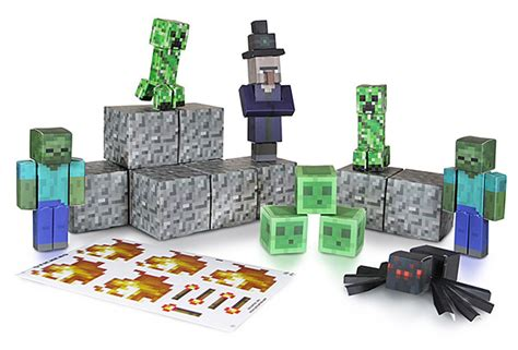 Minecraft Papercraft Hostile Mobs Set - minecraft papercraft sets thinkgeek