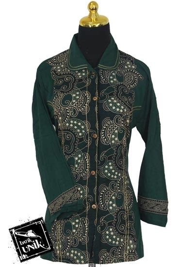 Baju Koko Oblong Kancing 3 Coklat Name sarimbit blus motif kerang nitik spiral blus lengan panjang murah batikunik