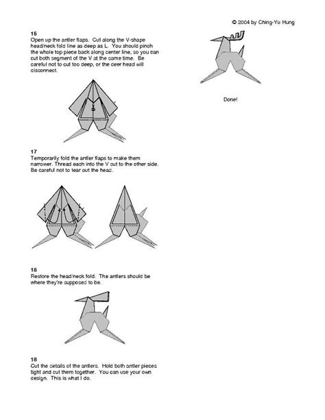 How To Make An Origami Reindeer - reindeer by cy hung