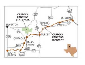 caprock escarpment map tracking time highways